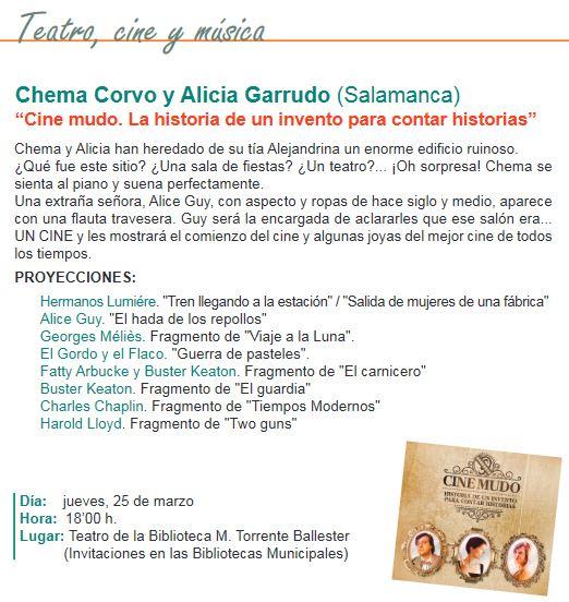Cine mudo en Salamanca