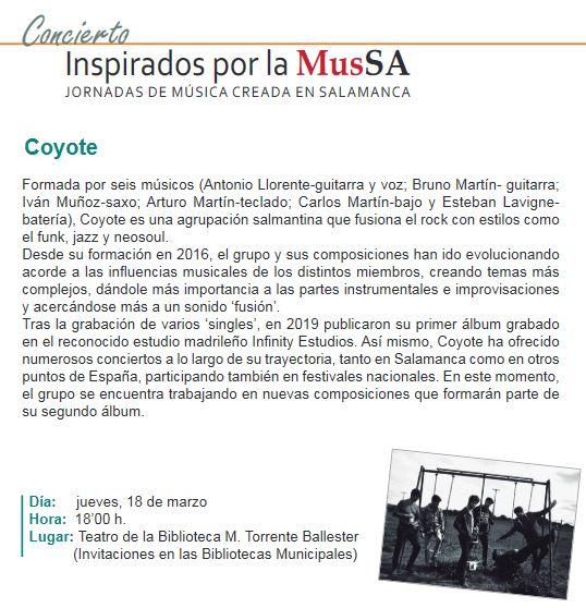 Concierto de Coyote, grupo de música salmantino