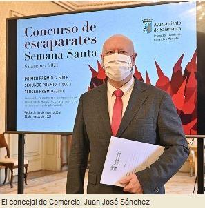 Concurso de escaparates de Semana Santa 2021 en Salamanca
