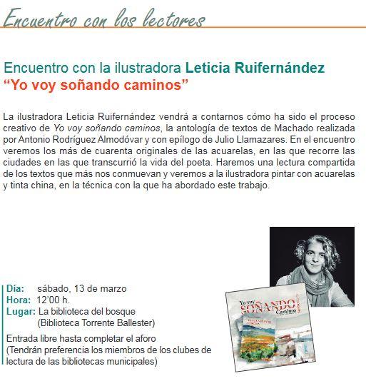 Encuentro con la ilustradora Leticia Ruifernández