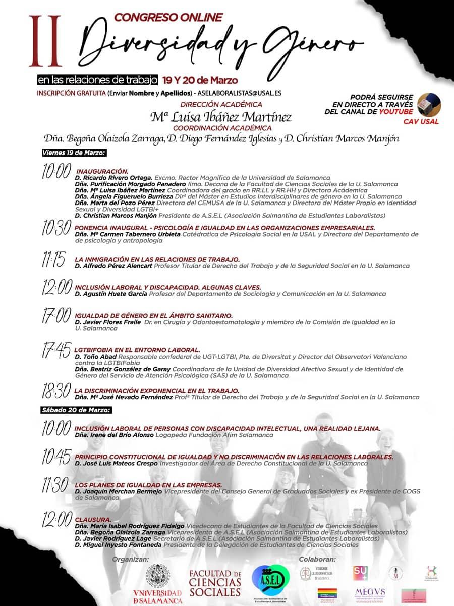 II Congreso Diversidad y Género en las relaciones de trabajo