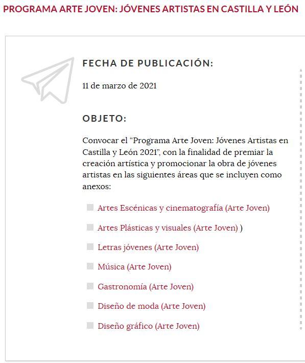 Jóvenes artistas en Castilla y León 2021