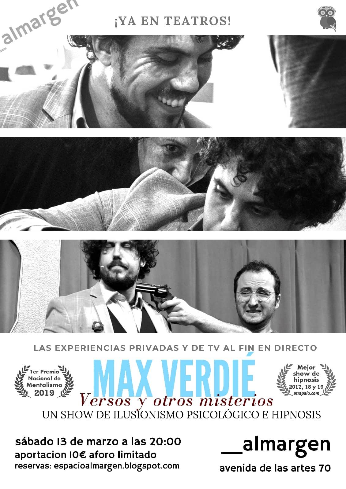 Max Verdié con versos y otros misterios en Salamanca
