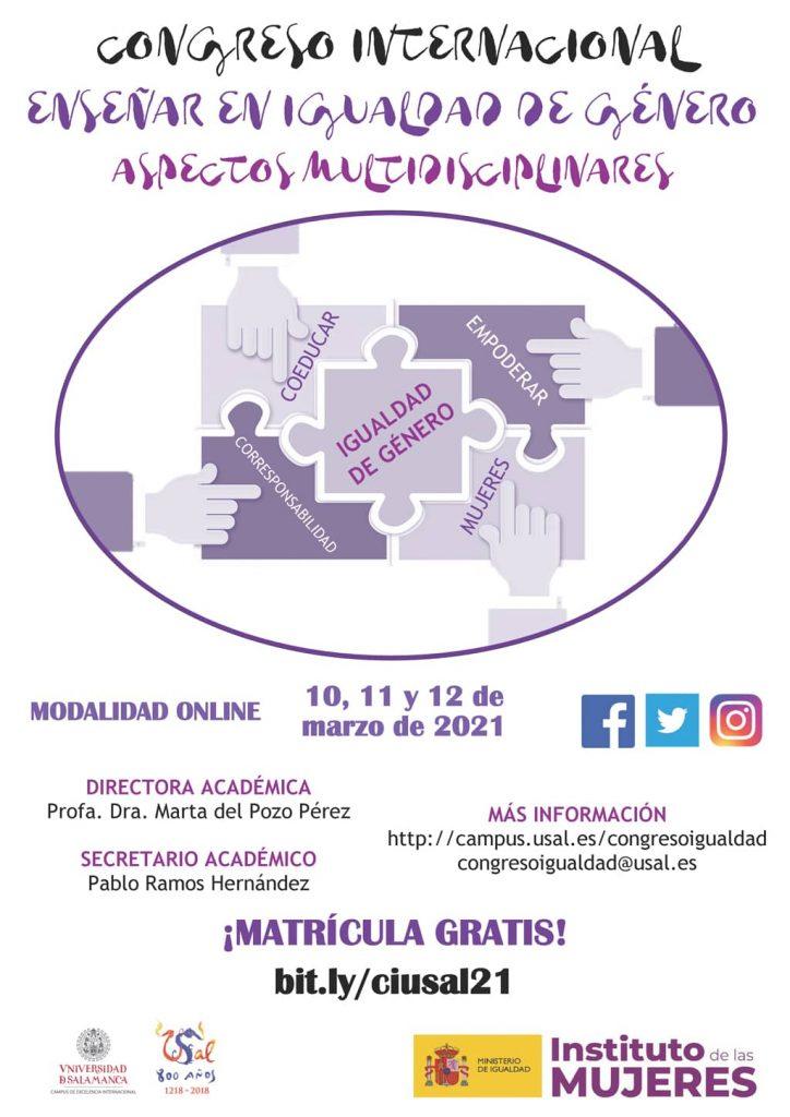 Cartel del XI Congreso de Igualdad de la Universidad de Salamanca