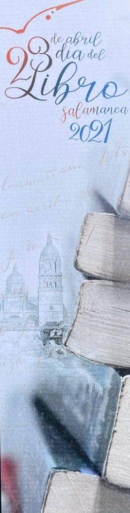 Marcapágina del día del libro 2021 de Salamanca