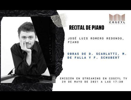 José Luis Romero Redondo. Concierto de piano