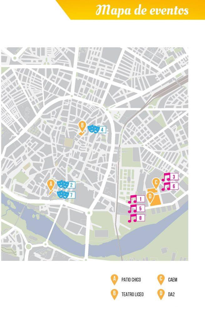 Mapa de eventos San Juan de Sahagún 2021 en Salamanca