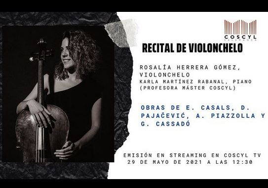 Rosalía Herrera Gómez. Recital de violonchelo