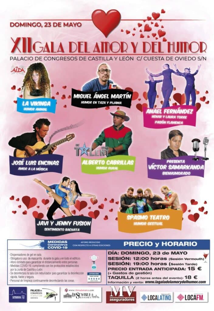 XII Gala del Amor y del Humor - Domingo 23