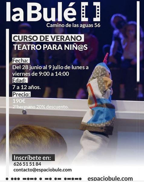Curso de verano Teatro para niños en la Bulé