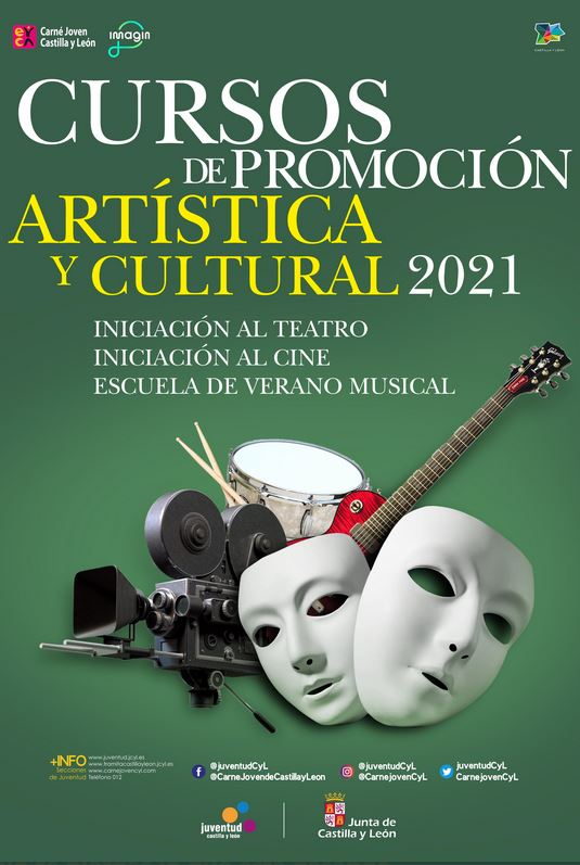 Cursos de promoción artística y cultural 2021. CYL