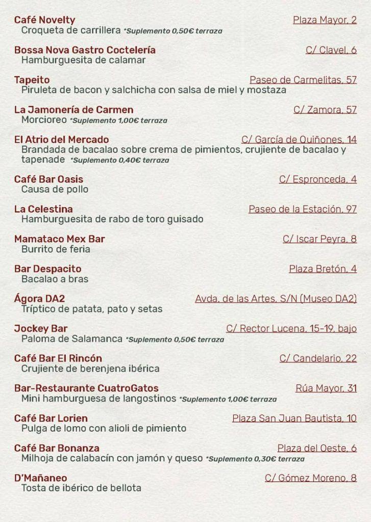Feria de dia 2021. Establecimientos 2. Ferias y fiestas de Salamanca