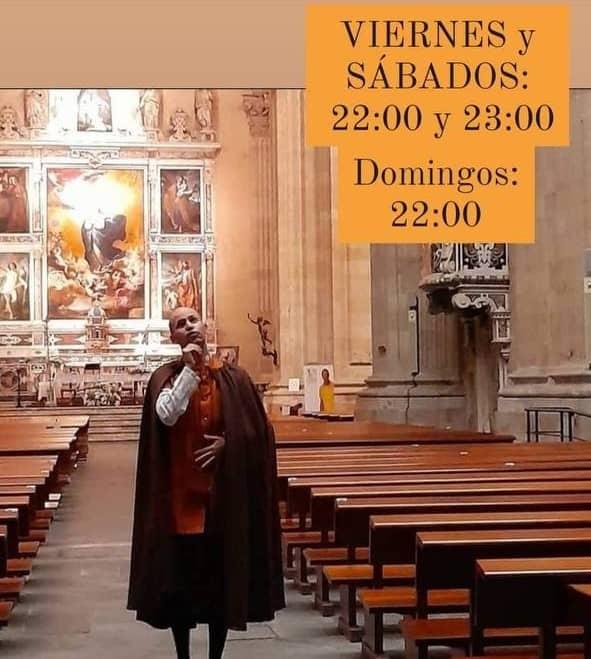 Visitas teatralizadas nocturas en Salamanca. Colleja Teatro