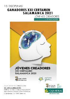 Cartel de la exposición de ganadores del XXI Certamen Jóvenes Creadores 2021