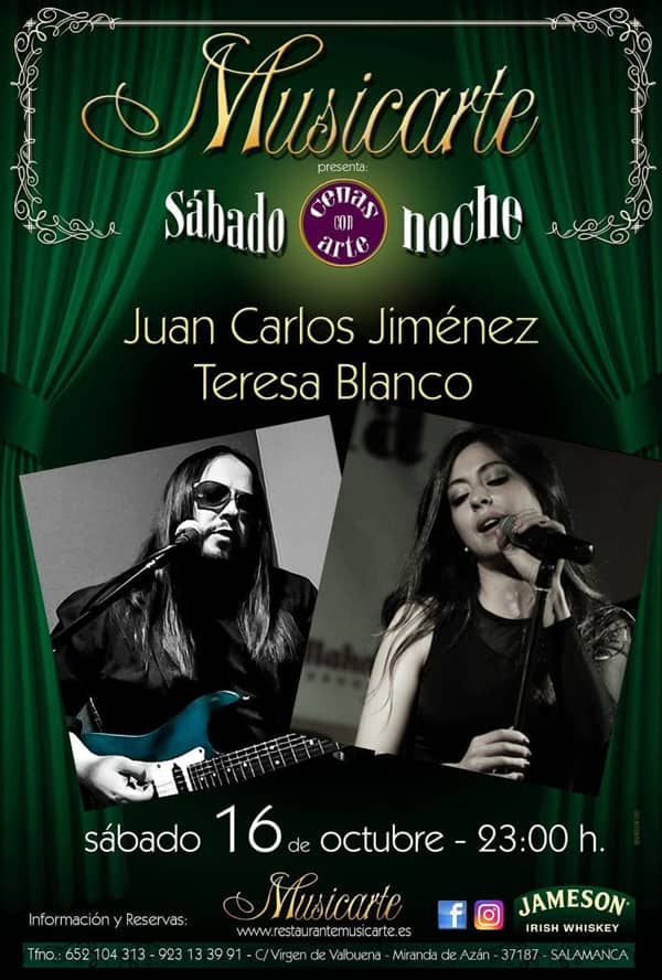 Juan Carlos Jiménez y Teresa Blanco en Musicarte