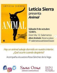 Leticia Sierra presenta Animal